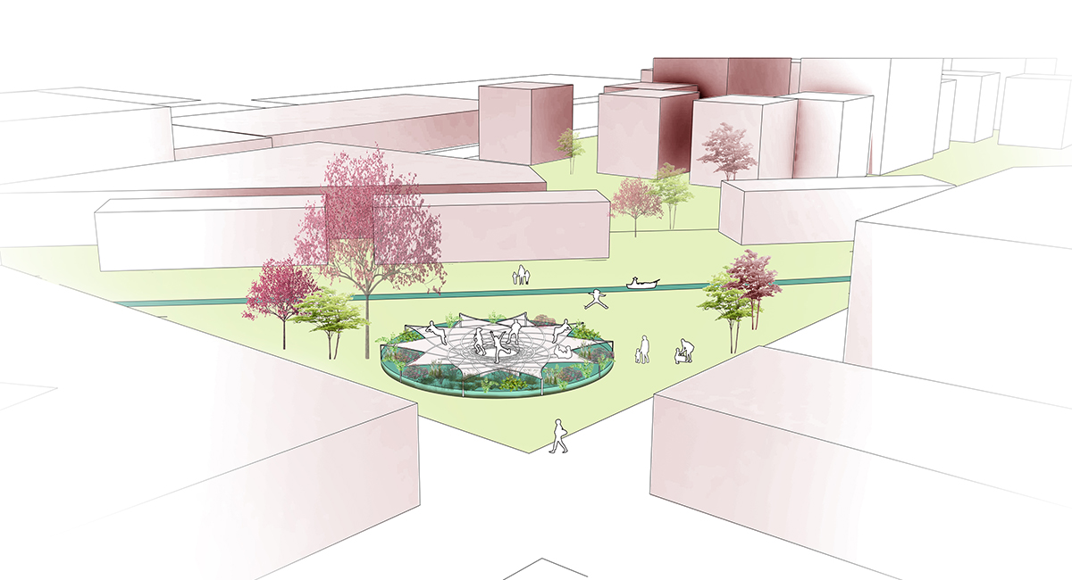 Water Drop linear park 7