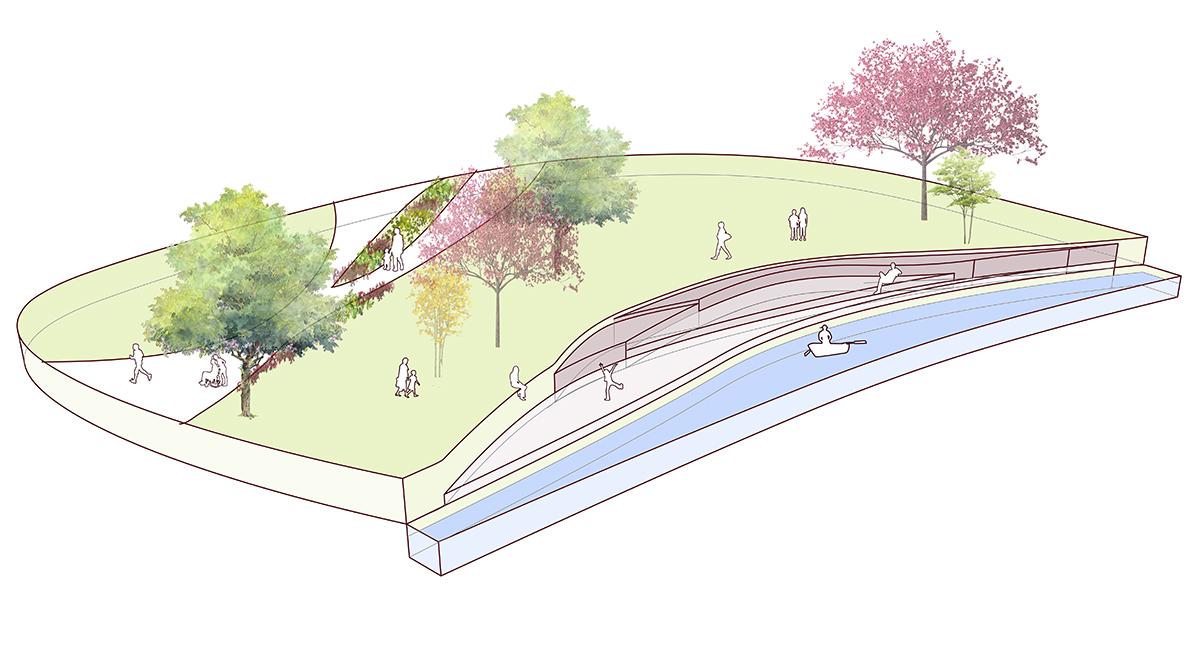 Water Drop linear park 8